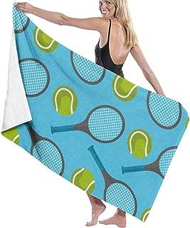 Song Shop Mall Microfiber Beach Towel Tennis Ball and Racket Desing Bath Towel Beach Blanket Quick Dry Towel for Travel Swim Pool Yoga Camping Gym Sport -30