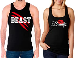 New Beast and Beauty Tank Tops -Matching Couple Shirts - His and Her Tank Tops - Love Shirts