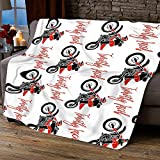 BOZOTA Personalized Blanket- Customized with Baby Girl Boy Kid Name Personalize Baby Blanket Boy Custom Name Baby Blanket Dirt Bike Baby Bedding Toddler Bedding Boy Baby Shower