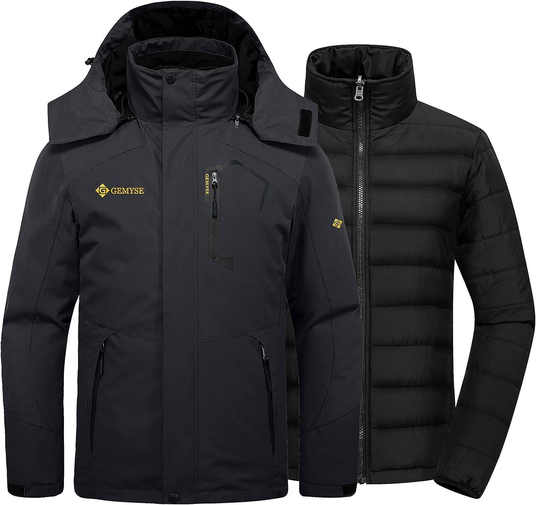 Luxury goods GEMYSE Men's Waterproof 3-in-1 Ski Puffer Liner Ranking TOP12 Snow Insu Jacket