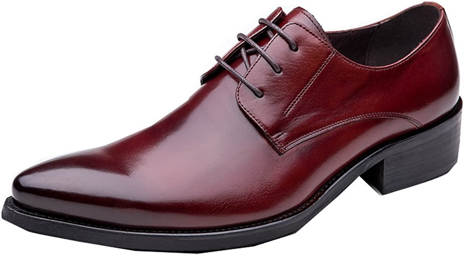 UNbox Mens Casual Formal Lace up Derby shoes in Smooth Leather