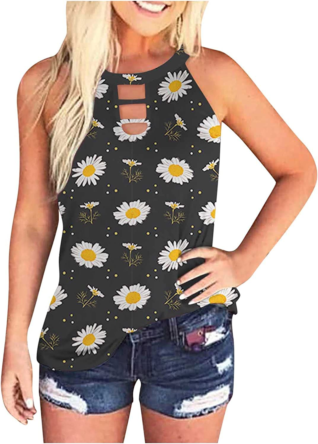 AODONG Tank Tops for Women Casual, Womens Sleeveless Fit Tie-Dye Summer Loose Tops Tunics Blouses Tee Shirts Vest