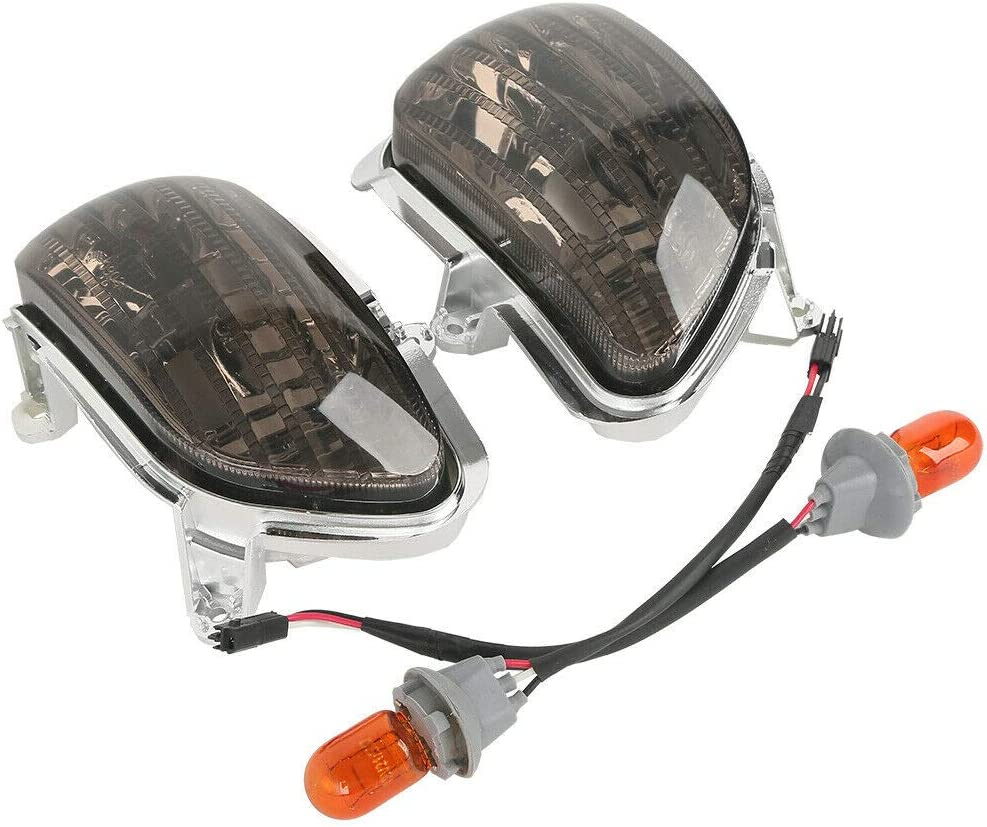 TCMT ABS Smoked Fort Worth Mall Front Turn Signal Lights discount Fits Honda Blinker For