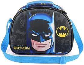 pl/ástico 12.5 x 19.5 x 28.2 cm Dise/ñ 3D Azul Batman Bolsa para Almuerzo