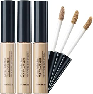 [the SAEM] Cover Perfection Tip Concealer SPF28 PA++ 6.5g - 3 Colors Set/High Adherence Concealer without Clumping and Cra...