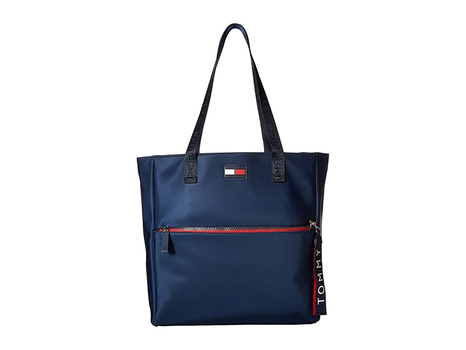 Tommy Hilfiger Leah Tote (Tommy Navy) Tote Handbags