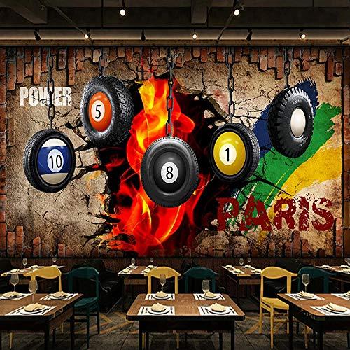 Fotobehang Creatieve Biljart Doodle Niet-geweven Premium Art Print Fleece Muurschildering Poster voor Woonkamer TV Achtergrond Muur 157.48x110.23 inch
