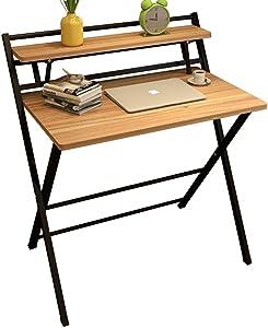 XUE Semplice Scrivania da Casa Desktop Scrivania Installazione Gratuita Pieghevole Tavolo Studio Scrivania Ufficio Semplice Piccola Scrivania Scrivania (Colore : A)
