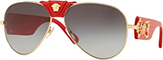 Versace VE2150Q Sunglasses 100211-62 - Gold Frame, Grey Gradient VE2150Q-100211-62
