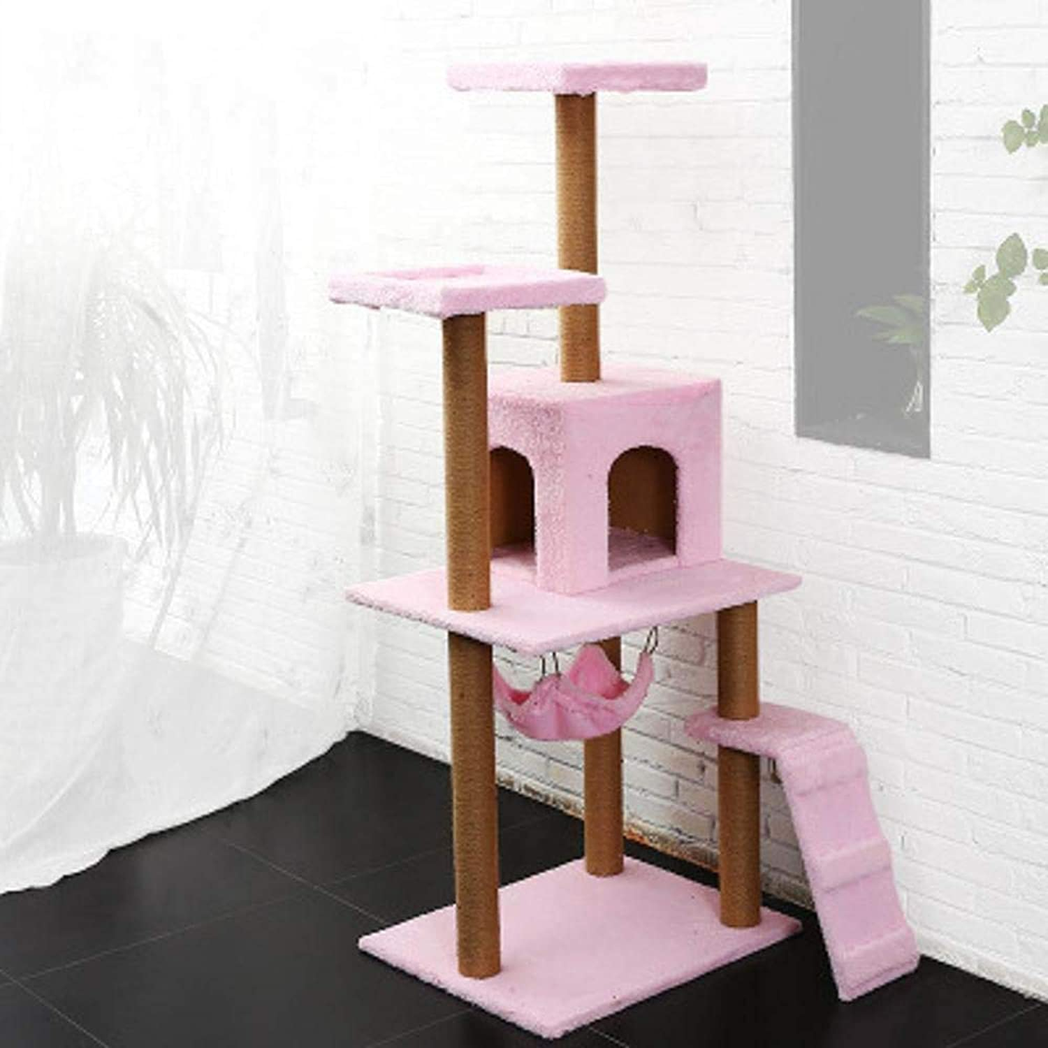Axiba Play Towers Trees for Cats Large Cat climbing frame sisal pet cat toy Cat Scratch Board cat Jumping cat tree for game sleeping 50cm 59cm  150cm