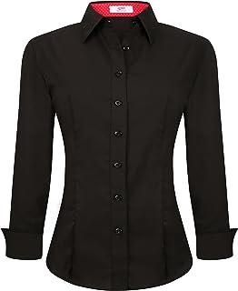 Womens Button Down Shirts Long Sleeve Regular Fit Cotton...