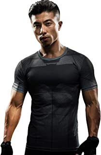 Swiftswan - Camiseta de Running para Hombre, Transpirable, para Deportes al Aire Libre, Secado rápido