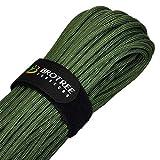 Brotree パラコード 4mm 9芯 マジックテープ付 耐荷重280kg テント ロープ パラシュートコード アウトドア キャンプ サバイバル固定用 (30m / 50m)