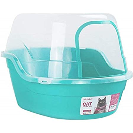 Petphabet Covered Litter Box, Jumbo Hooded Cat Litter Box Holds Up to Two Small Cats Simultaneously,Extra Large