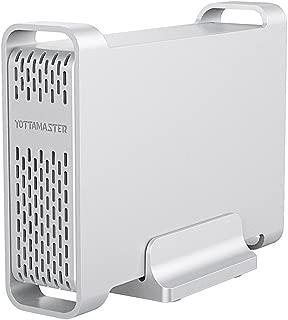 Yottamaster アルミ製 2.5インチ HDD/SSDケース USB3.0 SATAⅢ接続 外付けハードディスクケース Windows/Linux/Mac対応 UASP 高放熱性 ドライブケース シルバー[D25-Mini]