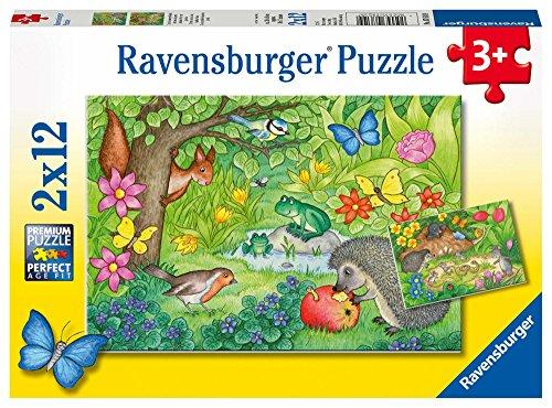 Ravensburger Kinderpuzzle 07610 - Tiere in unserem Garten - 2 x 12 Teile