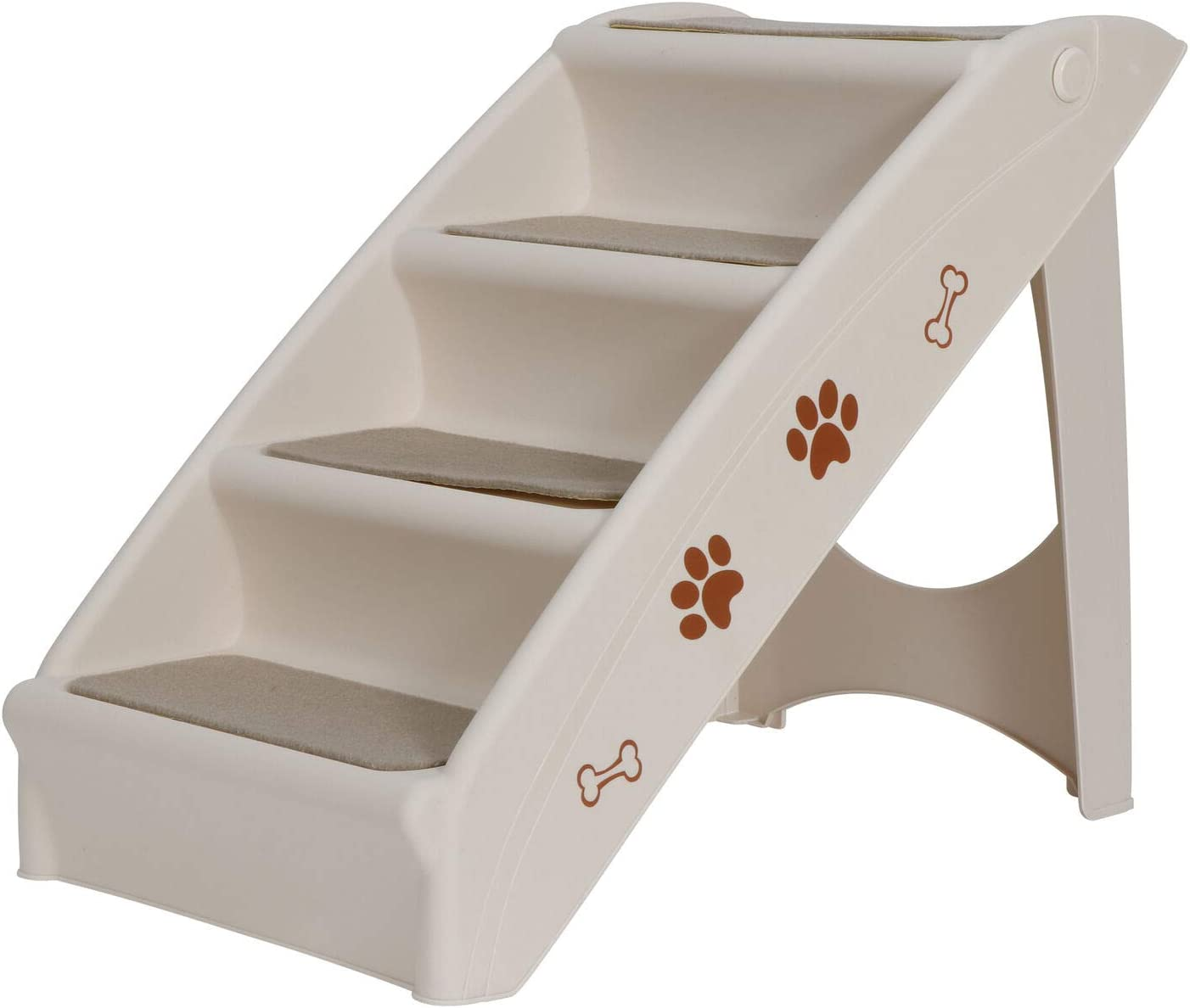 Foldable Quantity limited Pet Stairs Max 59% OFF 4 Non-Slip Steps Frame Dog Support w Ladder
