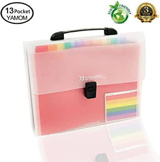 Accordion Folder File Organizer 13 Pockets Expanding A4/Size Letter Paper Multi-Colour Large Capacity Portable Box Document Stand Bag -Bonus Labels for Office, Business, Study …