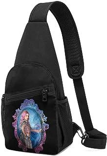 Hdadwy Descendants 3 Audrey Hombres Mujeres Crossbody Sling Mochila Sling Bag Travel Senderismo Bolsa de pecho Mochila negra