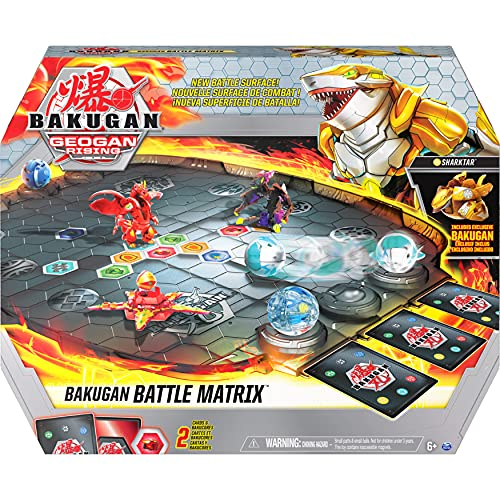 Bakugan Battle Matrix, Deluxe Game Board with Exclusive Gold Sharktar, for Kids Aged 6 and up