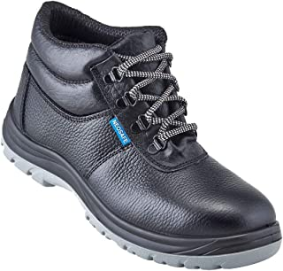 Neosafe A7025_8 Helix, High Ankle Black Safety Shoes with Steel Toe, Size 8