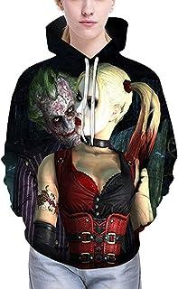 Hot Suicide Squad Joker Sweat à Capuche Pull Capuche Zipper Manteau Crâne Cosplay Veste