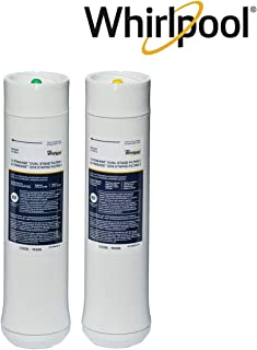 Whirlpool WHEEDF Dual Stage Replacement Pre/Post Water Filters | Fits WHADUS5 & WHED20 Filtration Systems | 1 Set
