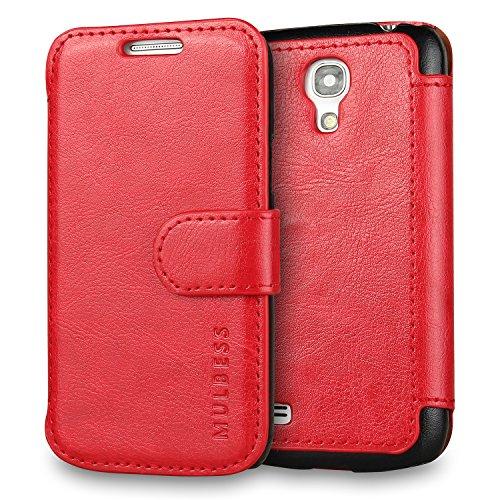 Mulbess Cover per Samsung Galaxy S4 Mini, Custodia Pelle con Magnetica per Samsung Galaxy S4 Mini Caso, Vino Rosso
