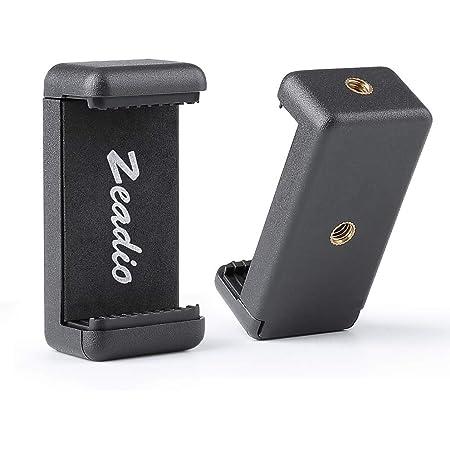 Zeadio, supporto per treppiede per smartphone, adattatore per supporto per cellulare, monopiede, morsetto regolabile per iPhone, Samsung, Huawei, Sony, LG, ZTE e tutti i telefoni