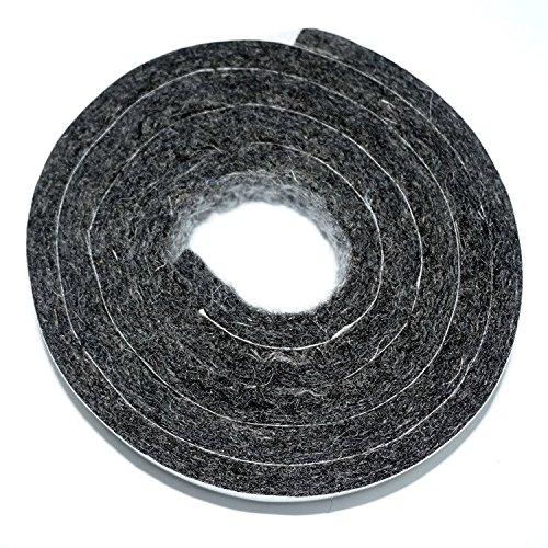 Woolous self Adhesive Heavy Duty Wool Felt Strip roll for Furniture and Rocking Chair, Dark Grey, 1.18''x40'Inch