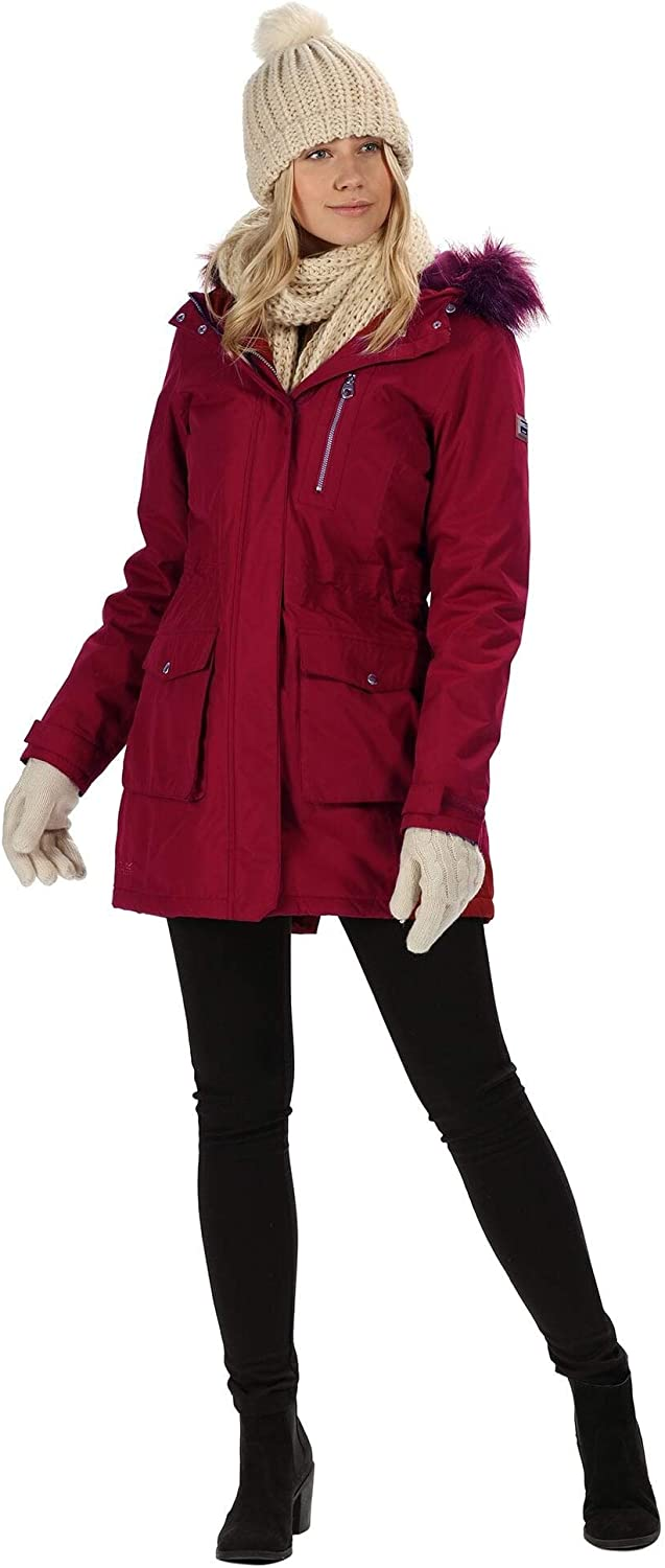 Regatta Serleena Waterproof /& Thermo-guard Insulated Faux Fur Hooded Parka Jacket Chaquetas con aislamiento impermeable Mujer