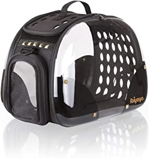 ibiyaya Top Loaded Pet Carrier for Cats and Dogs, Collapsible Made from Suitcase Material a Great Alternative to pet Kennel and Dog Carrier Purse