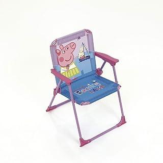 ARDITEX Silla Plegable para niños bajo Licencia Peppa Pig en Metal Dimensiones: 38 x 32 x 53 cm, Tela, 38 x 32 x 53 cm