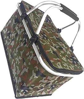 HUI JIN Grand sac isotherme de 30 l avec doublure rigide pour pique-nique Motif camouflage