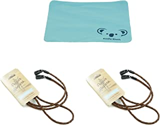 Peeper Keepers Braided Leather Cord Eyeglass and Sunglass Retainer / Strap, Light Brown (2 Pack)