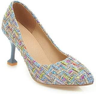 BalaMasa Womens Assorted Colors Travel Fabric Urethane Pumps Shoes APL10595