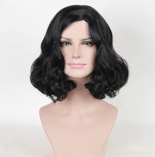 かつらヨーロッパとアメリカのファッション梨フラワーヘッド黒短いボリュームの修復女性のヘアピース