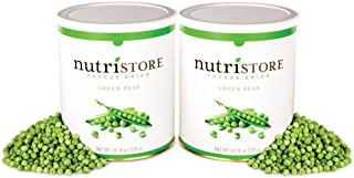 Freeze Dried Green Peas by Nutristore | Pack of 2 | 36.68 Total oz | Amazing Taste | Healthy Snack | Survival Food