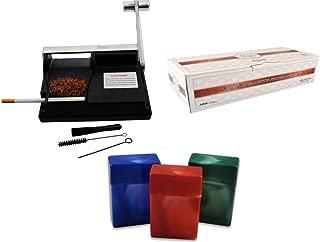 Powermatic I Cigarette Injector Machine + FREE Zico Tube, 3 Pk Fess Cigarette Case