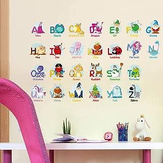 Enfants B/éb/é Chambre P/épini/ère DIY D/écoratif Adh/ésif Stickers Mural Wallpark T/ôt /Éducation Dessin anim/é Alphabet Anglais Carte du monde Amovible Stickers Muraux Autocollants