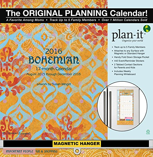 Wells Street by Lang Wells Street Bohemian 2016 Plan-It Plus by Susan Winget, August 2015 to December 2016, 12 x 26.5 Inches (7009159)