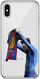 Bap Store Soccer Silicone Protective Transparent Thin Case Compatible with iPhone 6 6s (37)