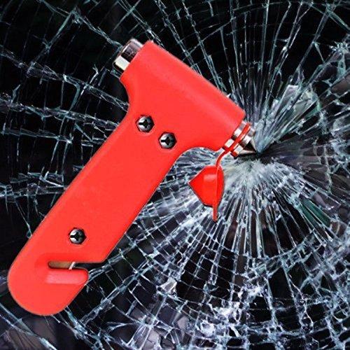Folconroads DOEU-TQ0052 Schlüsselanhänger-Werkzeug-Glas-Auto-Sicherheitsgurt-Schneider mit Fensterbrecher und Sicherheitshammer