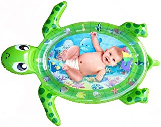 Premium Inflatable Tummy Time Water Mat Sea Turtle Shape Infants and Toddlers Play Mat Toy Perfect Tummy Time Toy for Infa...