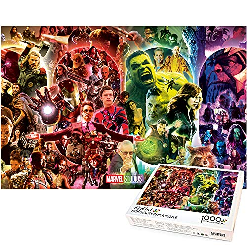 Iron Man and the Hulk Puzzles para adultos 1000 piezas The Avengers 1000 piezas Puzzle Juegos educativos Decoración del hogar Puzzle Marvel hero 38x26cm