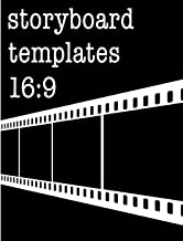 Storyboard Templates 16:9: Filmmaker Notebook With Film Cover Design To Sketch And Write Out Scenes With Easy-To-Use Template