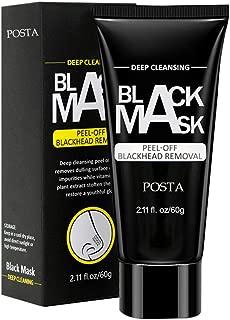 POSTA Blackhead Remover Mask, Peel Off Blackhead Mask, Deep Cleansing Black Mask, Activated Charcoal Black Mask for All Skin Types Deep Cleansing Pore & Acne