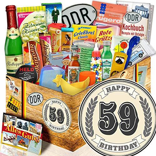 Geschenk Geburtstag 59. / Box 24er Allerlei / 59-Geburtstag Geschenke Männer
