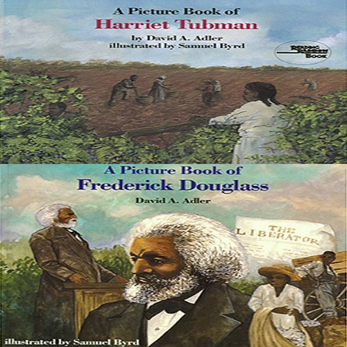 'A Book of Harriet Tubman' and 'A Book of Frederick Douglass' audiobook cover art