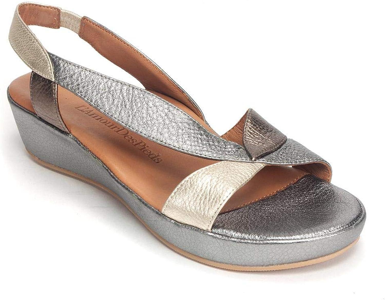 L'Amour des Pieds Crödono Low Wedge Sandal Sandal Sandal  det senaste